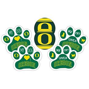 Oregon Ducks Pet 6-Piece Magnet Set