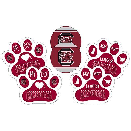 South Carolina Gamecocks Pet 6-Piece Magnet Set