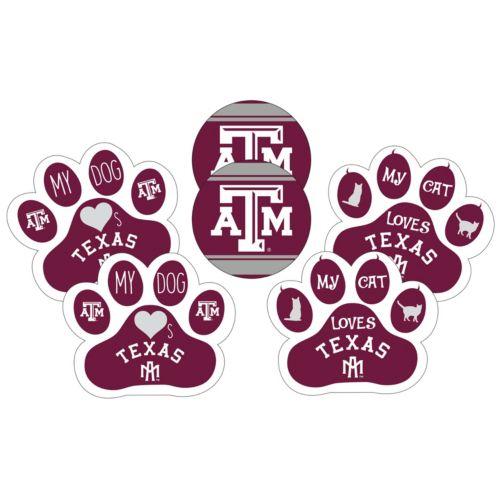 Texas A&M Aggies Pet 6-Piece Magnet Set