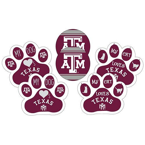 Texas A&M Aggies Pet 6-Piece Magnet Set