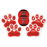 Texas Tech Red Raiders Pet 6-Piece Magnet Set