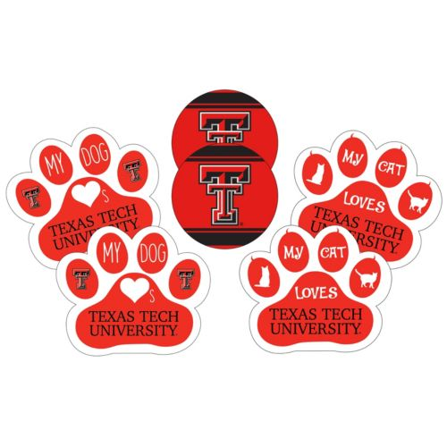 Texas Tech Red Raiders Pet 6-Piece Magnet Set
