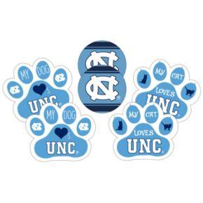 North Carolina Tar Heels Pet 6-Piece Magnet Set