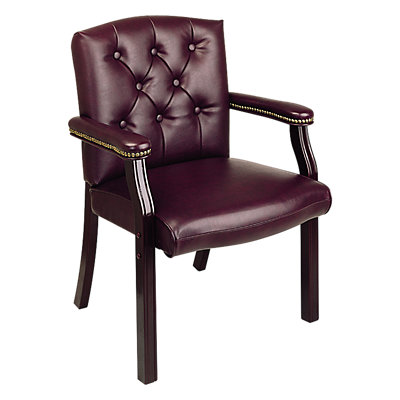 Office Star Products Mahogany Traditional Visitor's Chair