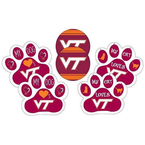 Virginia Tech Hokies Pet 6-Piece Magnet Set