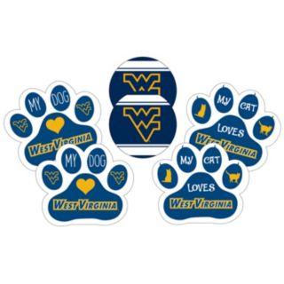 West Virginia Mountaineers Pet 6-Piece Magnet Set