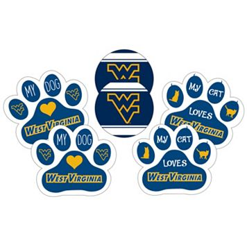 West Virginia Mountaineers Pet 6-Piece Magnet Set