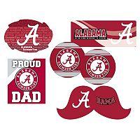 Alabama Crimson Tide Proud Dad 6 pc Decal Set