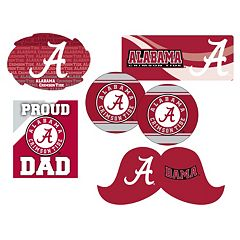 Alabama Crimson Tide Proud Dad 6-Piece Decal Set