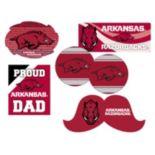 Arkansas Razorbacks Proud Dad 6-Piece Decal Set