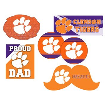 Clemson Tigers Proud Dad 6-Piece Decal Set