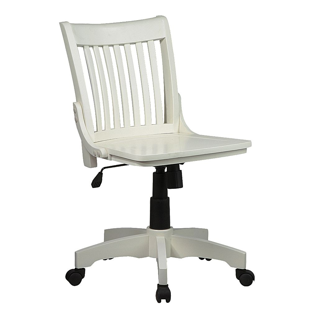 Office Star Products Deluxe Armless Wood Banker's Chair