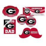 Georgia Bulldogs Proud Dad 6-Piece Decal Set