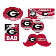 Georgia Bulldogs Proud Dad 6 pc Decal Set