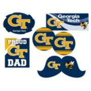 Georgia Tech Yellow Jackets Proud Dad 6-Piece Decal Set