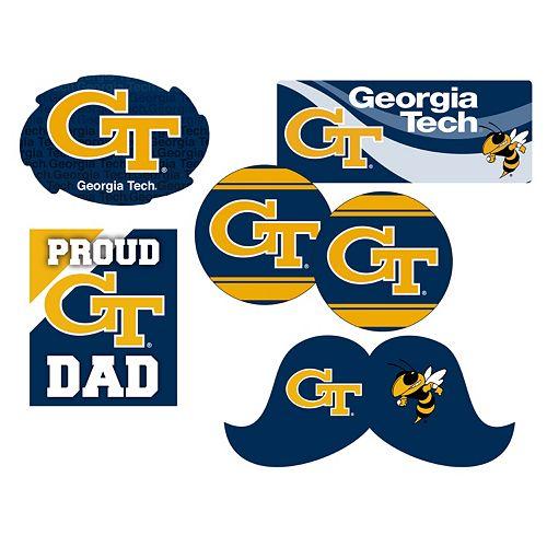 Georgia Tech Yellow Jackets Proud Dad 6-Piece Decal Set