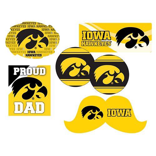 Iowa Hawkeyes Proud Dad 6-Piece Decal Set