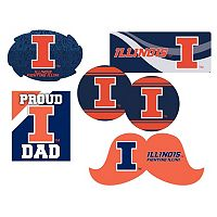 Illinois Fighting Illini Proud Dad 6 pc Decal Set