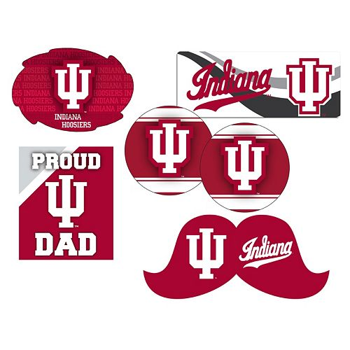 Indiana Hoosiers Proud Dad 6-Piece Decal Set