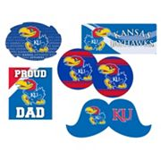 Kansas Jayhawks Proud Dad 6 pc Decal Set