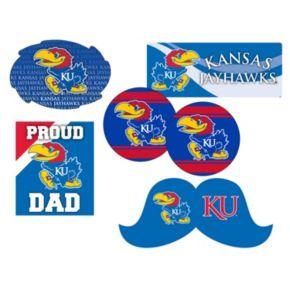 Kansas Jayhawks Proud Dad 6-Piece Decal Set