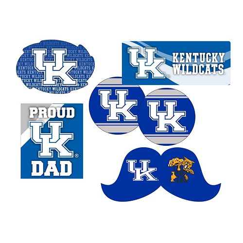 Kentucky Wildcats Proud Dad 6-Piece Decal Set