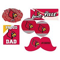 Louisville Cardinals Proud Dad 6 pc Decal Set