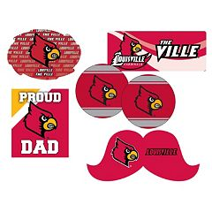 Louisville Cardinals Proud Dad 6-Piece Decal Set