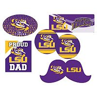 LSU Tigers Proud Dad 6 pc Decal Set