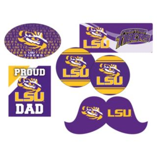 LSU Tigers Proud Dad 6-Piece Decal Set