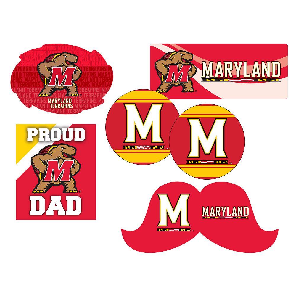 Maryland Terrapins Proud Dad 6-Piece Decal Set