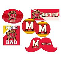 Maryland Terrapins Proud Dad 6 pc Decal Set
