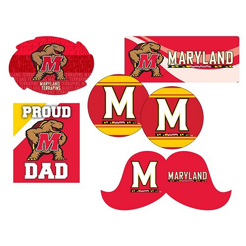 Maryland Terrapins Proud Dad 6-Piece Decal Set