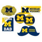 Michigan Wolverines Proud Dad 6-Piece Decal Set