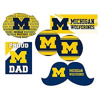 Michigan Wolverines Proud Dad 6 pc Decal Set