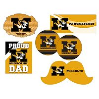 Missouri Tigers Proud Dad 6-Piece Decal Set