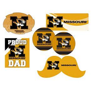 Missouri Tigers Proud Dad 6-Piece Decal Set