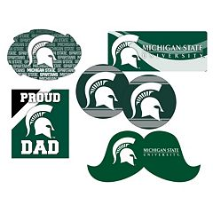 Michigan State Spartans Proud Dad 6 pc Decal Set