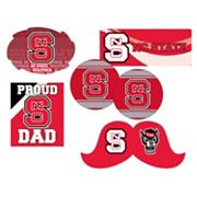 North Carolina State Wolfpack Proud Dad 6 pc Decal Set