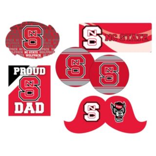 North Carolina State Wolfpack Proud Dad 6-Piece Decal Set