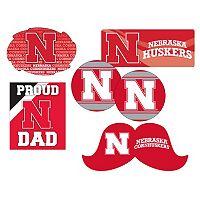 Nebraska Cornhuskers Proud Dad 6 pc Decal Set