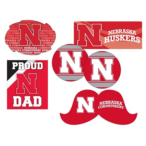 Nebraska Cornhuskers Proud Dad 6-Piece Decal Set