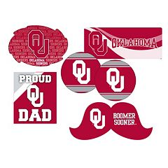 Oklahoma Sooners Proud Dad 6-Piece Decal Set