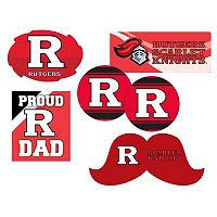 Rutgers Scarlet Knights Proud Dad 6 pc Decal Set