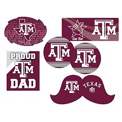Texas A&M Aggies Proud Dad 6 pc Decal Set