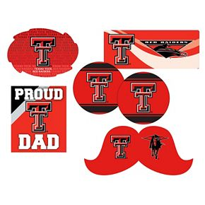 Texas Tech Red Raiders Proud Dad 6-Piece Decal Set