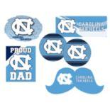North Carolina Tar Heels Proud Dad 6-Piece Decal Set