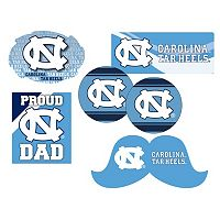 North Carolina Tar Heels Proud Dad 6 pc Decal Set