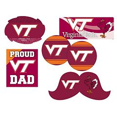 Virginia Tech Hokies Proud Dad 6-Piece Decal Set