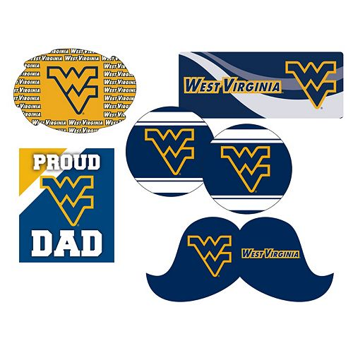 West Virginia Mountaineers Proud Dad 6-Piece Decal Set